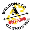 Ontario stamp rubber grunge vector image