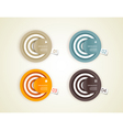 Four colored paper circles vector image vector image