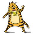 Stylish cat vector image vector image