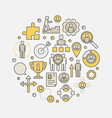 Career development circular vector image