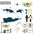 United States Virgin Islands map vector image