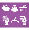 banking and shopping vector image vector image