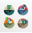 Set of flat design circle infographic icons vector image vector image