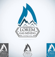 OIl gas company logo design template color set vector image
