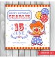 a circus clown vector image