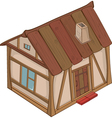 Funny Little House vector image vector image
