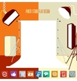 Modern flat designed photo-studio with place for vector image