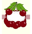 drawn cherry berry labels vector image