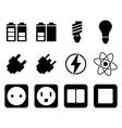Icon set twelve vector image
