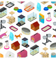 Accessories for domestic pets seamless pattern vector image