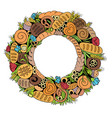 bread wreath2 vector image