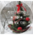 Christmas tree with blurred photographic vector image