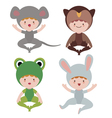 Cute baby animals characters vector image