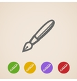 ink pen icons vector image