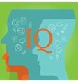IQ intellectual quotient intelligence vector image
