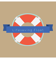 Life Saving Float Ring vector image