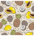 Seamless Patterns with Fruit vector image