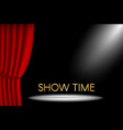 theater stage with curtain and spotlight and show vector image