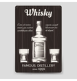 Whisky brochure flyer template vector image