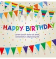 Birthday party poster with multicolored vector image