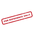 For Reference Only Text Rubber Stamp vector image