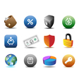 Finance and security icons vector image
