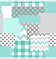 patchwork seamless pattern vector image