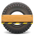 board with truck tire vector image