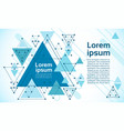 abstract triangle geometrical background banner vector image