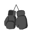 black boxing gloves retro isolated vintage sports vector image