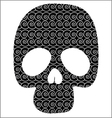 Scull with graphic pattern vector image vector image