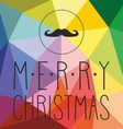 Christmas card with hipster mustache vector image vector image