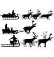 Reindeer sleighs vector image vector image