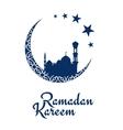 Ramadan Kareem design with mosque and moon vector image vector image