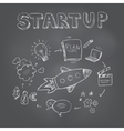 Start up concept Seamless hand drawn pattern vector image vector image