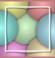 balloon background white frame vector image