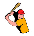 baseball player icon icon cartoon vector image