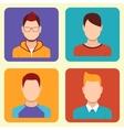 Boys Icons Set vector image