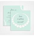 Bridal shower invitation card vector image