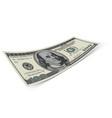 hundred dollar banknote on white background money vector image