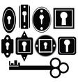key and keyholes vector image