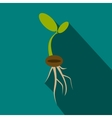 Plant sprout icon flat style vector image