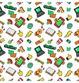Social Networks Seamless Background vector image