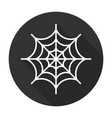 Spider web icon flat vector image