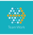 Team work flat design concept vector image