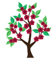 tree abstract floral vector image