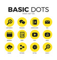 web flat icons set vector image