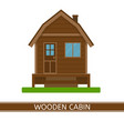 wooden cottage icon vector image