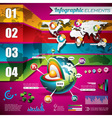 technology design set of infographic elements vector image