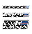 made in cabo verde vector image